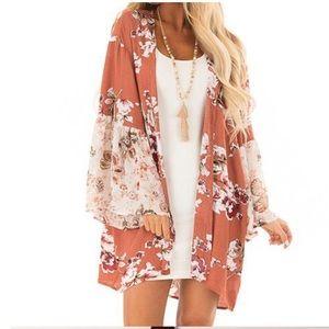 NEW ARRIVAL! Boho Bloom Kimono Floral Print Rustic